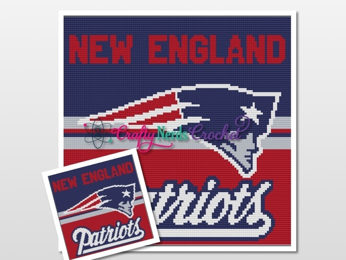 New England Patriots With Logo Pattern Graph With Mini C2C And C2C Written