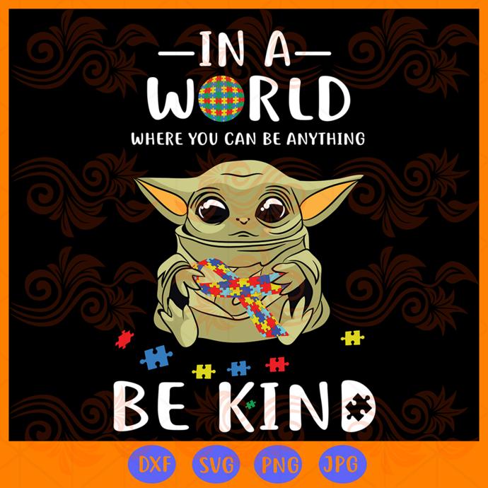 Baby yoda svg, yoda svg, the Mandalorian, star wars svg, autism awareness,