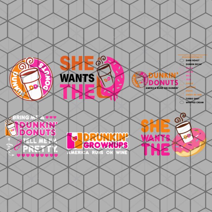 dunkin donuts svg, She wants the d, she wants the d svg, dunkin' donuts, dunkin,