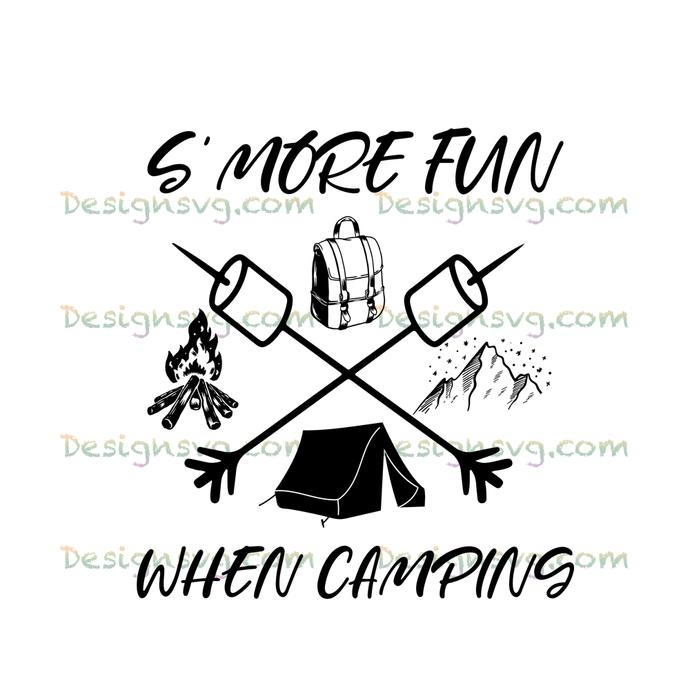 S'more fun when camping,camping, camping shirt,camper svg,camping shirt,campfire