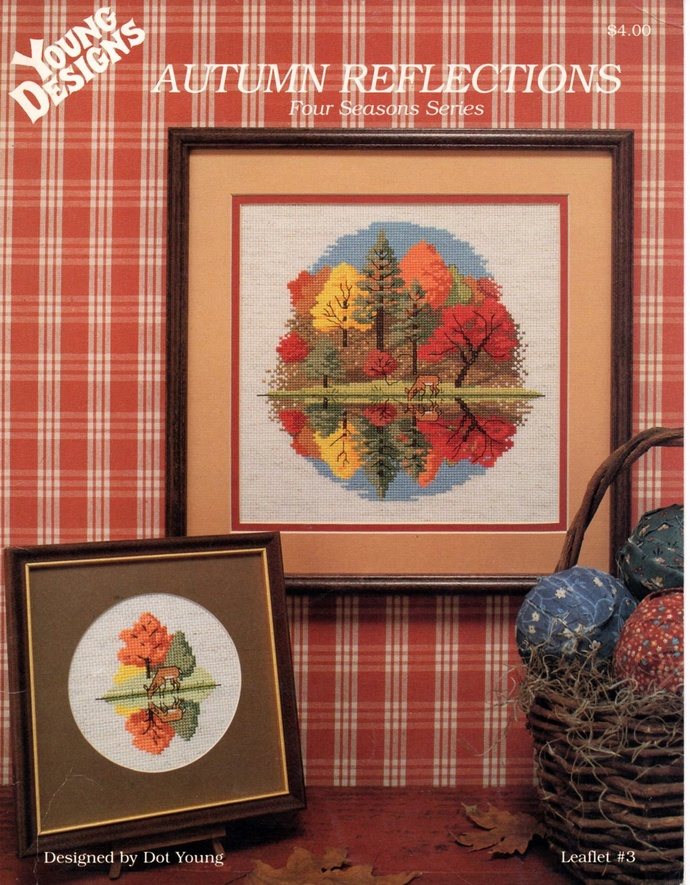 Autumn Reflections Cross Stitch Pattern Young Designs Leaflet 3 Four Seasons