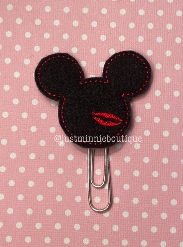 Planner Clip Mickey Kiss