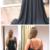 Spaghetti Straps Black Prom Dress with Beading