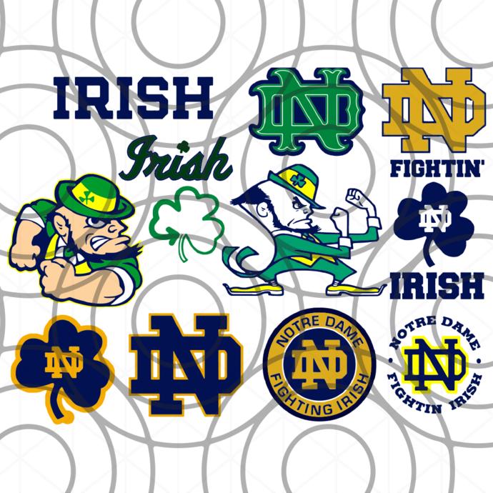 Notre Dame Fighting Irish svg, nd fans svg, Notre Dame team, und logo, ND Irish