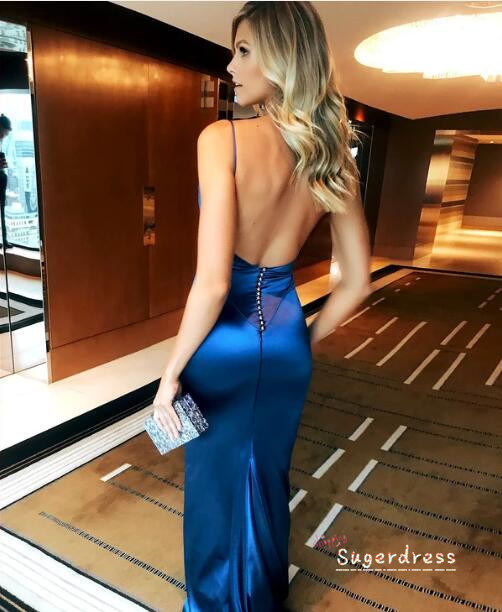 Sim[le Mermaid Open Back Prom Dress 8000403