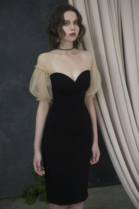 Little Black Dress Short Homecoming Dress ,2052