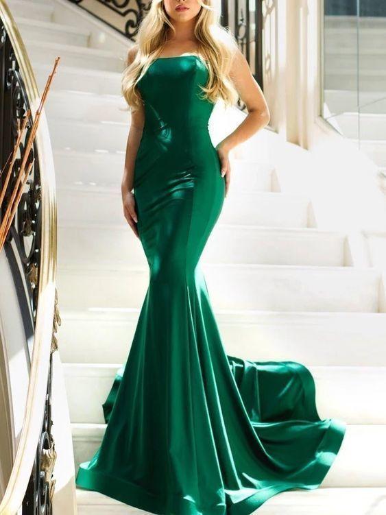 Floor-Length Sweep Strapless Sleeveless Prom Dress,2056