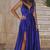 Sexy Sleeveless Evening Dress, Spaghetti Straps Long Prom Dress with Slit, Dark