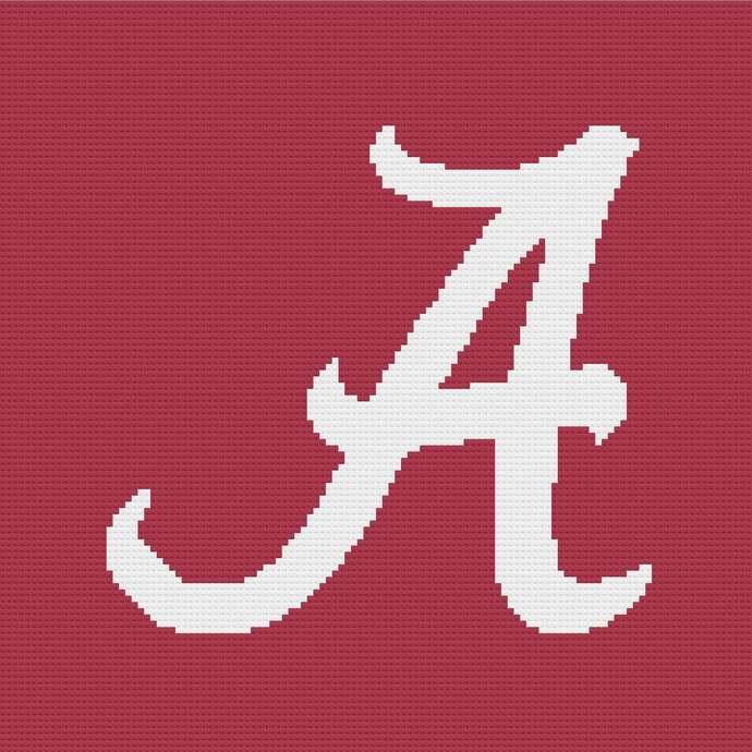 Alabama Crimson Tide Corner to Corner Crochet Pattern Graphghan Afghan C2C
