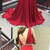 Burgundy Mermaid Long Prom Dress Fashion Formal Dress