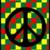 Reggae peace sign