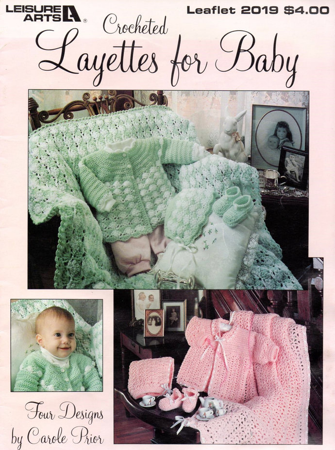 Crocheted Layettes For Baby Crochet Pattern Leisure Arts Leaflet 2019 Sweater,