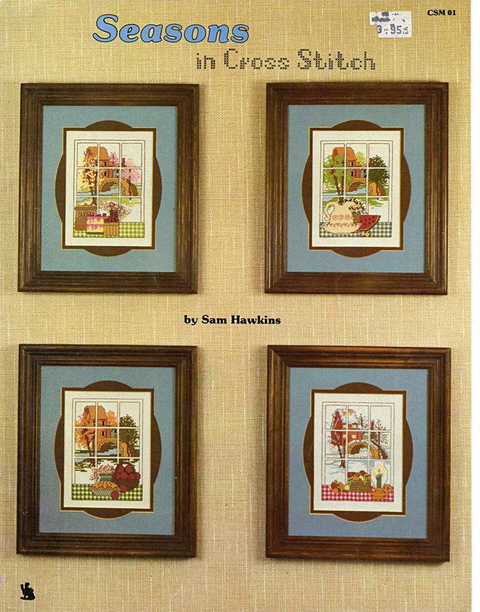 Seasons in Cross Stitch Sam Hawkins 80s Cross Stitcher Pattern Leaflet CSM 01