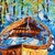 Peace on the Lake Original Colorful Boat Art Oil Painting by Rebecca Beal