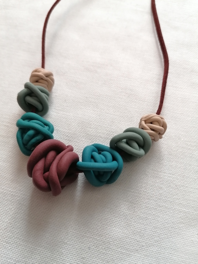 Multi Squiggle Bead Necklace