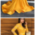 Yellow Lace Mermaid Prom Party Dresses Vintage Sheer Lace V-neck Evening Gowns