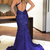 New Royal Blue Halter Mermaid Prom Dresses With Crystals Full Beading 2018 Sexy