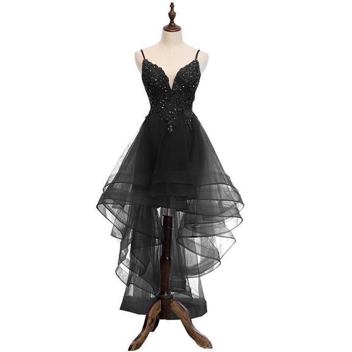 Lovely  High Low V-Neckline Straps Party Dress, New Straps Prom Dress   ML6027