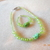 "Apple Green Necklace and Bracelet Set for 18"" Doll"