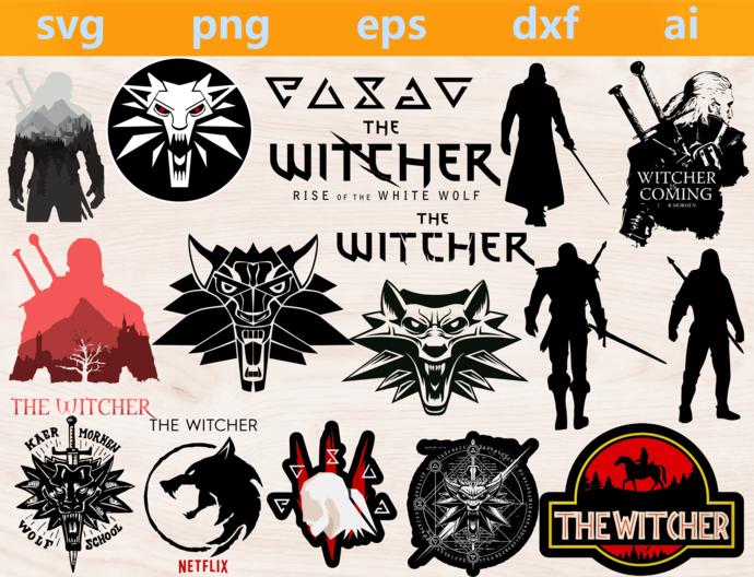 the witcher svg, the witcher png, the witcher eps, the witcher dxf, the witcher