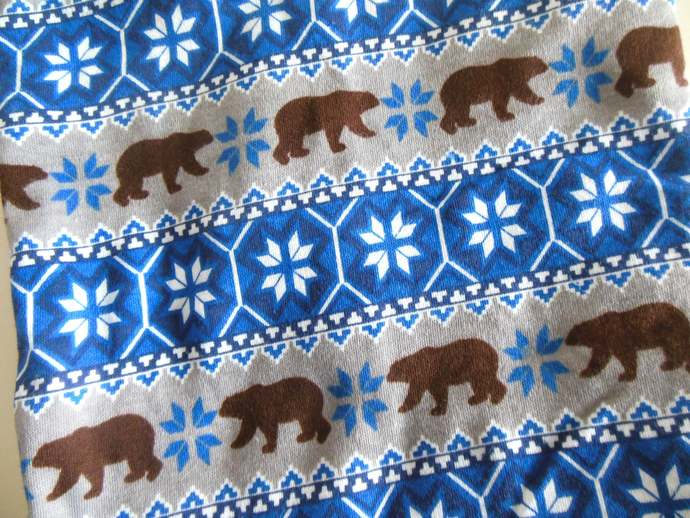 Swaddle Sack, Sleep Sack, Cocoon and Scratch Mittens in Snowflakes & Bears