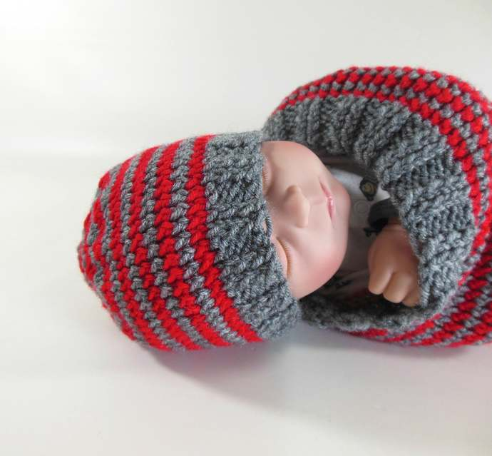 Made to Order Knit Cocoon or Hat, Knit Infant Sleep Sack or Hat, Knit Baby