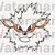 Arcanine SVG files, Arcanine face svg, eps, dxf files for cricut, Cutting