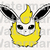 Flareon SVG files, Flareon face svg, eps, dxf files for cricut, Cutting