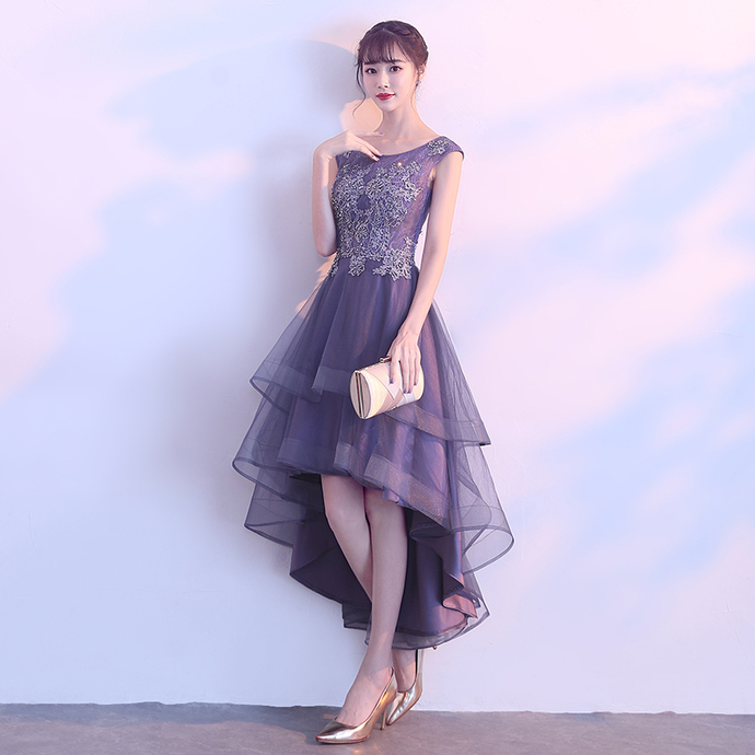 Lovely Round High Low Tulle Party Dress, Homecoming Dress 2020