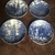Set of four Staffordshire Liberty Blue ironstone coasters