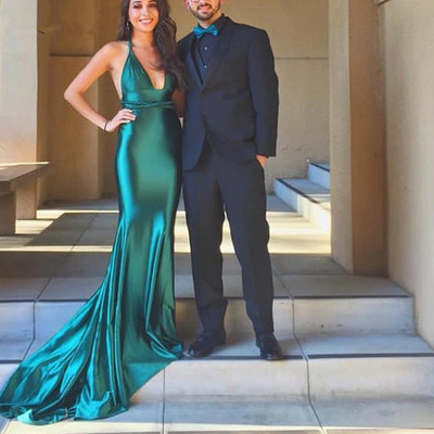 Emerald Green Prom Dress Prom Dresses,Long Mermaid Prom Dresses,Long Formal