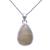 Solid 925 Sterling Silver Golden Rutile Quartz Pear Pendant Jewelry,Silver