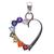 925 Sterling Silver Amethyst,Peridot Multi Color Heart Shape Pendant Jewelry