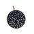 925 Sterling Silver Black Onyx Round Carving Pendant Jewelry, Onyx silver