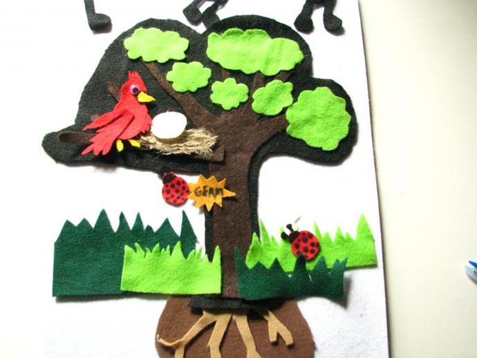 Copy of Felt Board Story Set- The Green Grass Grows... perfect for nursery