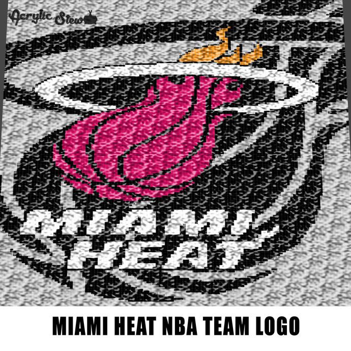 Miami Heat NBA Team Logo American Professional Basketball Team crochet graphgan
