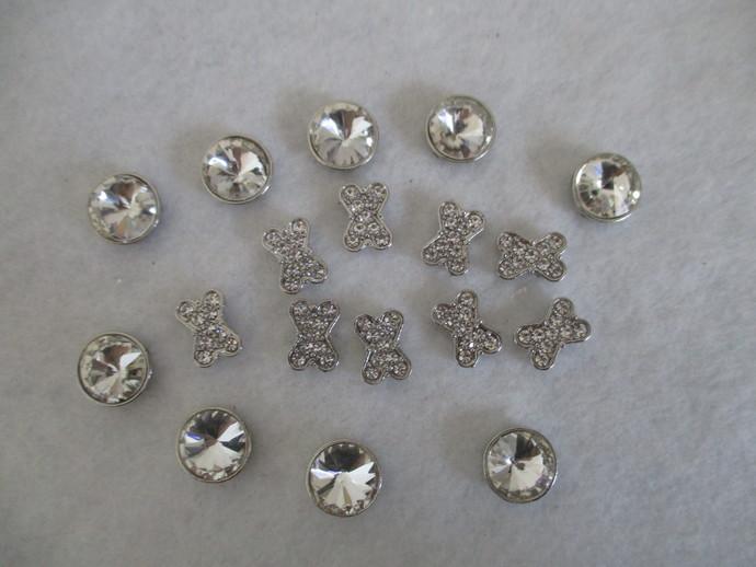 10mm Diamante/Metal Bracelet Beads - End of Line Items