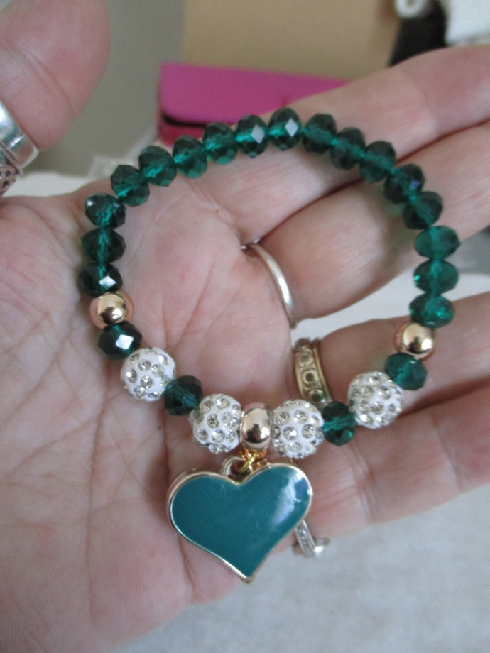 Gorgeous Crystal/Clay Bracelet - New