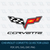Chevrolet Corvette C6 Vector Logo Car Eblem DXF EPS SVG Cut File Printable