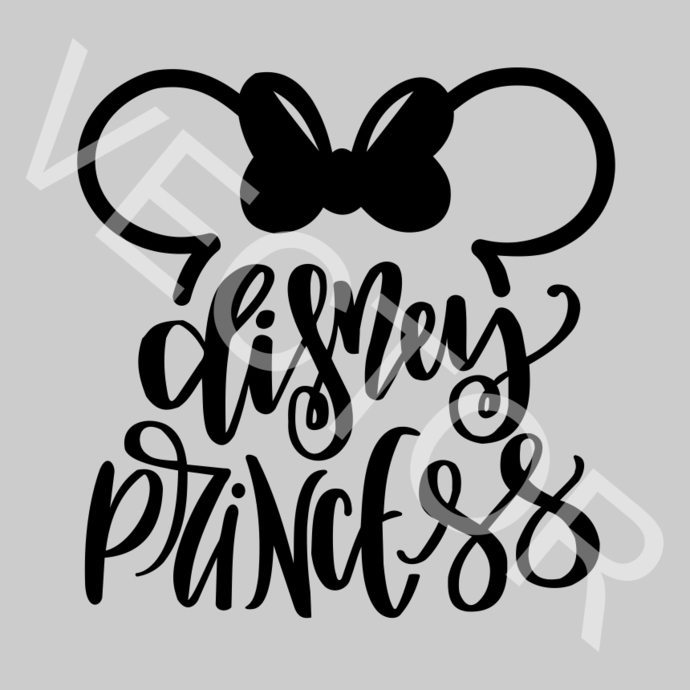 Disney Princess Minnie Ears Graphics SVG Dxf EPS Png Cdr Ai Pdf Vector Art