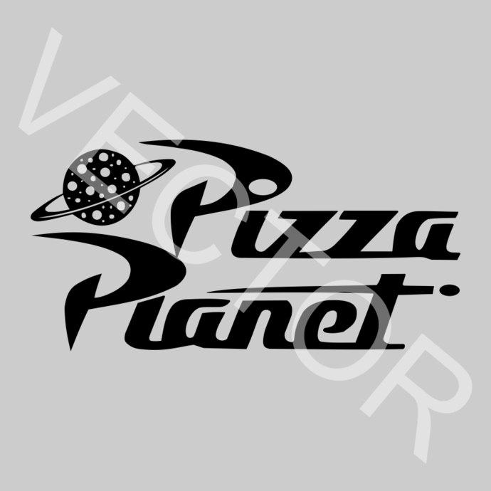 Pizza Planet Toy Story Graphics SVG Dxf EPS Png Cdr Ai Pdf Vector Art Clipart