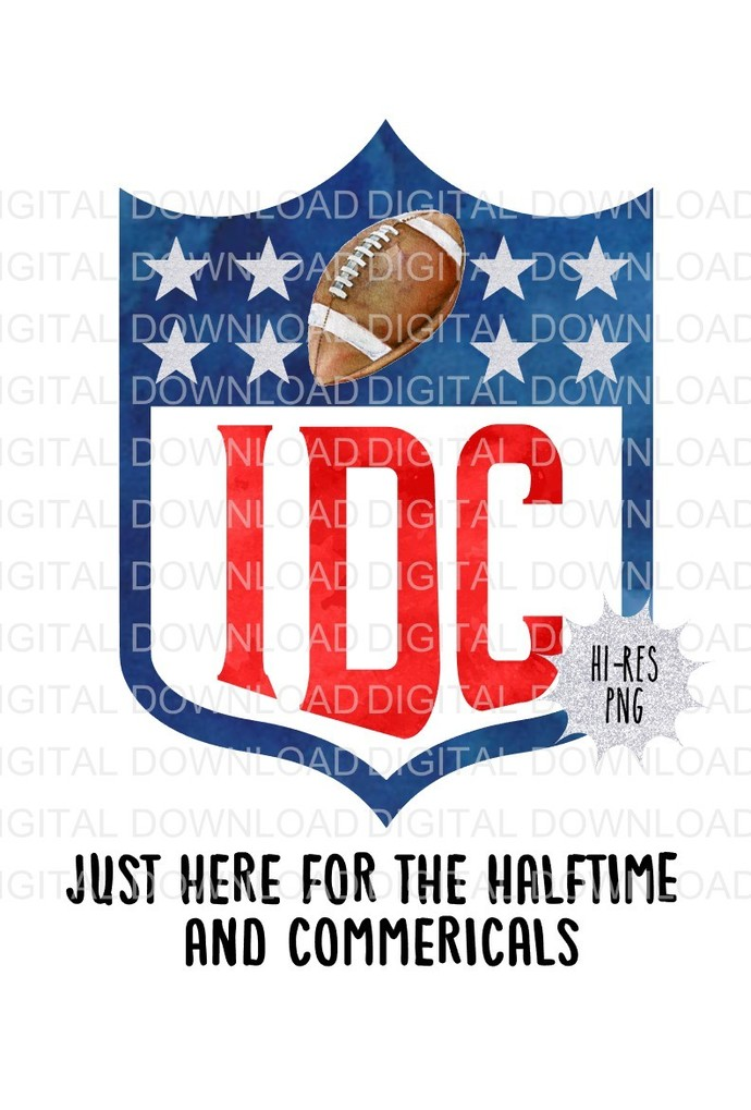 IDC Anti-Team Superbowl Design  Digital Download PNG