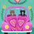 A Valentine Road Trip Original Cat Folk Art Painting