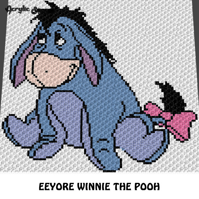 Eeyore Winnie the Pooh Disney Cartoon Character crochet graphgan blanket