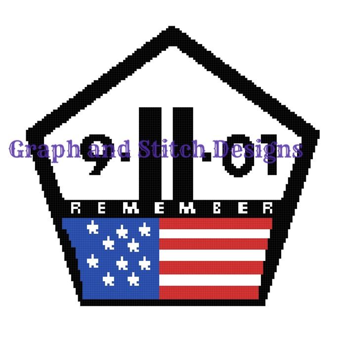 9-11 Memorial graph and written