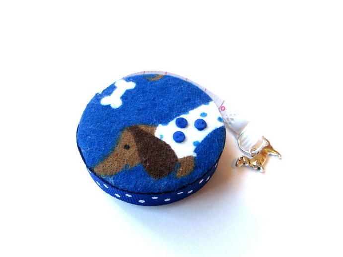 Measuring Tape Dotted Dachshunds Small Retractable Tape Measure