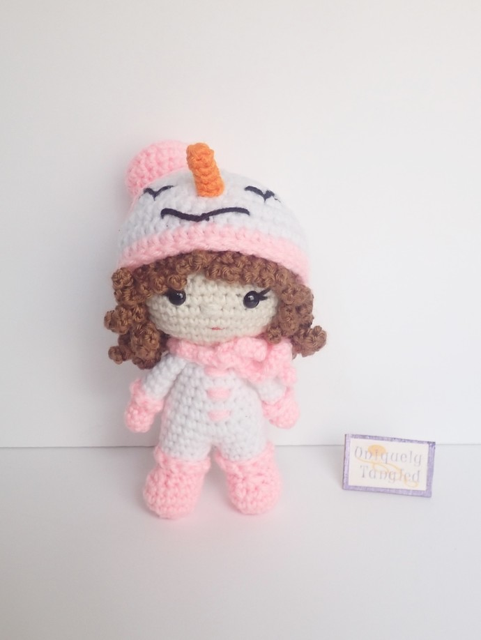 Pippa in Snowgirl Costume