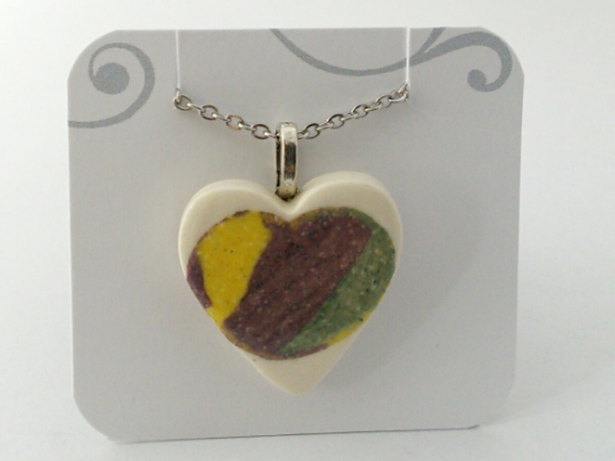 Ceramic Heart Pendant