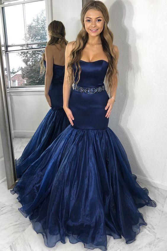 Charming Sweetheart Mermaid Prom Dresses,Long Prom Dresses,Cheap Prom Dresses,