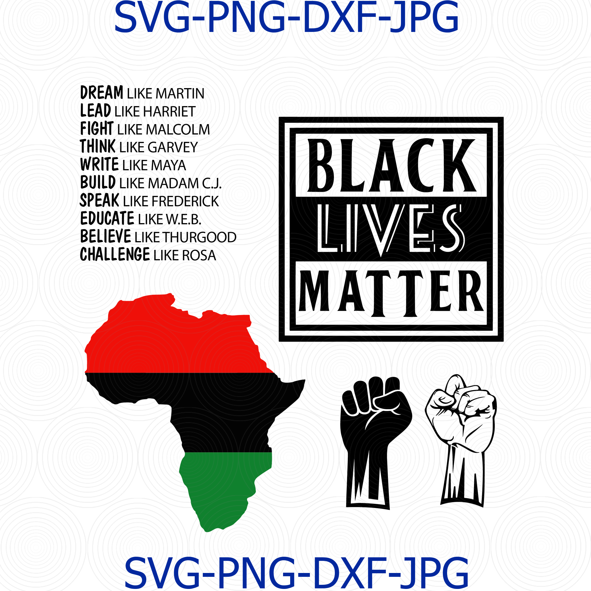 Black Lives Matter Svg Black Power Beauty Afro By Digital4u On